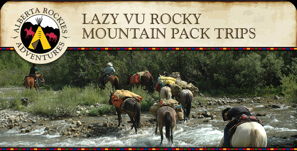 Lazy VU Rocky Mountain Pack Trips Alberta Rockies Adventures